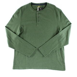 Club Room NEW Dark Green Mens Size Large L Long Sleeve Henley Shirt