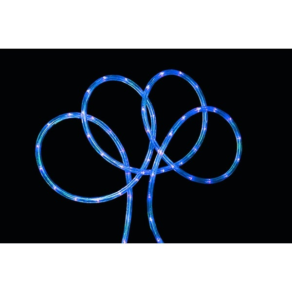 "18' Blue LED Indoor/Outdoor Christmas Rope Lights - 2"" Bulb Spacing"
