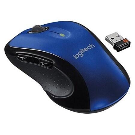 Refurbished Logitech M510 Wireless Large Mouse Blue Multi-Color Standard 910-002533