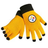 Pittsburgh Steelers Knit Color Block Gloves