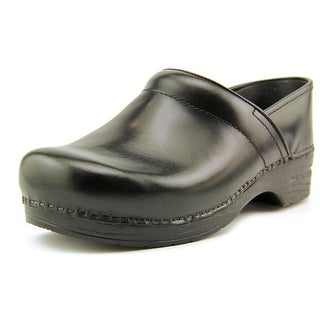 Dansko Wide Pro Cabrio Round Toe Leather Clogs