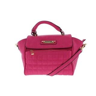 V1969 19.69 ABBIGLIAMENTO Womens Minerva Faux Leather Quilted Satchel Handbag - Medium