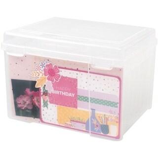 "We R Craft & Photo Translucent Plastic Storage-11""X9""X8"" File Organizer"