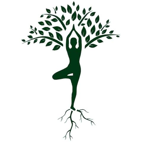 Tree Yoga Wall Decal Tree Wall Art Meditation Yoga Stickalz Room Removable Yoga Wall Decal