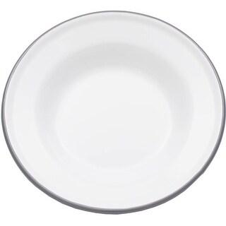"Crow Canyon V19GRY Vintage Raised Salad Plate, 8"" D, Grey Rim"
