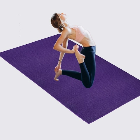 Extra Large Exercise Yoga Mat 8ft x5ft x7mm For Home Gym