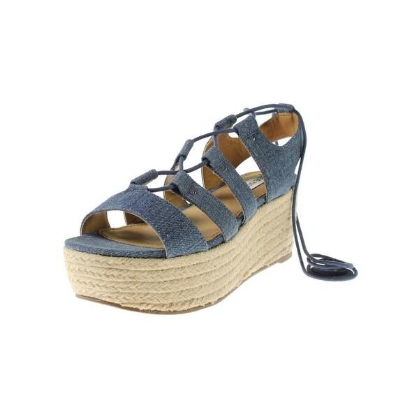 3d3c985c1b1a Shop Steve Madden Womens Brayla Platform Sandals Strappy Ghillie ...