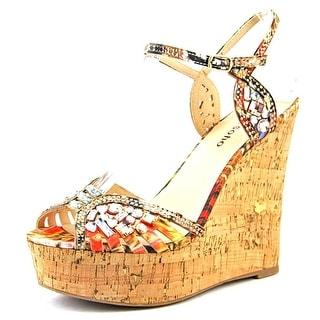 Zigi Soho Raylene Women Open Toe Canvas Wedge Heel