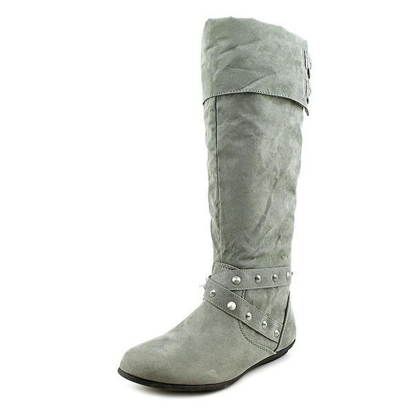 Rampage Womens Batari Faux Fur Closed Toe Mid-Calf Fashion Boots