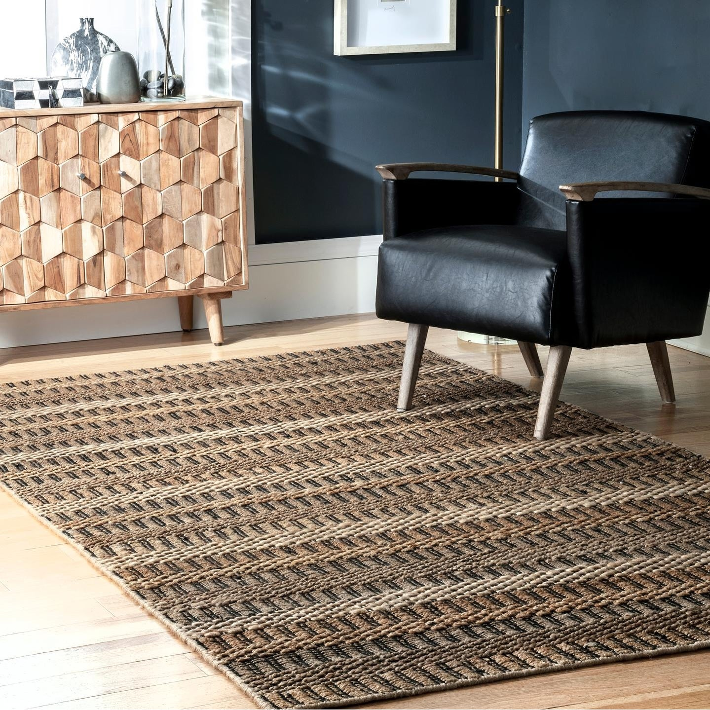 Nuloom Coraline Jute Striped Basketweave Area Rug On Sale Overstock 30595460