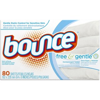 Bounce Free & Gentle Fabric Softener Dryer Sheets 80 ea (4 options available)