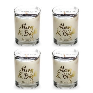 Pine Balsam Candle, Soy Wax, Hints of Evergreen & Fir Needle (4 Pack)
