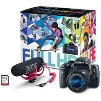 Canon EOS Rebel T6i Video Creator Kit (18-55 Lens, Rode VIDEOMIC Go, 32GB SDHC)