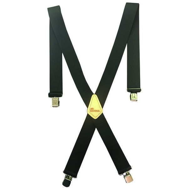 Berne Work Suspenders Mens Embossed Leather X Back Logo - 46