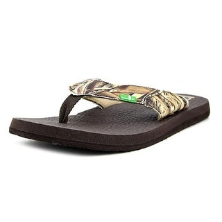 Sanuk Fault Line Blades Men  Open Toe Synthetic Brown Flip Flop Sandal