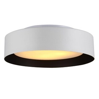 "Bromi Design B4106 Lynch 3 Light 15-3/4"" Wide Flush Mount Drum Ceiling Fixture with Glass Shade"