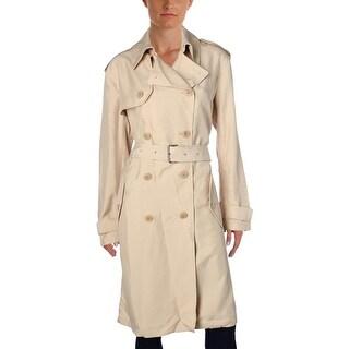Lauren Ralph Lauren Womens Trench Coat Double Breasted Belted