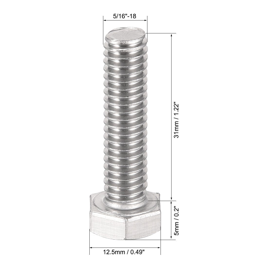 Thread Size 5//16-18 Thread Size 5//16-18 FastenerParts Steel Four-Arm Extended-Tip Thumb Screw
