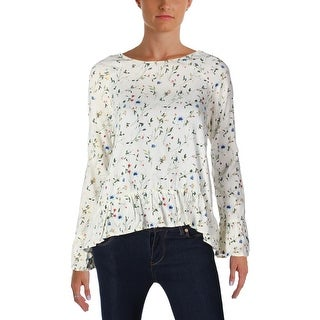 4Our Dreamers Womens Blouse Floral Print Ruffled