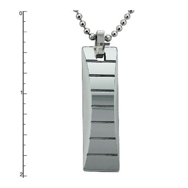 Tungsten Carbide Pendant on 22 Inch Bead Chain