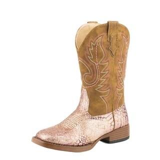 Roper Western Boots Girls Glitz Glitter Pink