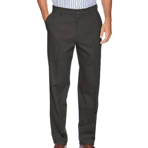 Dockers Mens Signature Khaki Pants Gray Size 38x29 Relaxed Fit Stretch
