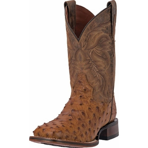 "Dan Post Western Boots Mens 11"" Cowboy Mad Dog Ostrich Sad"