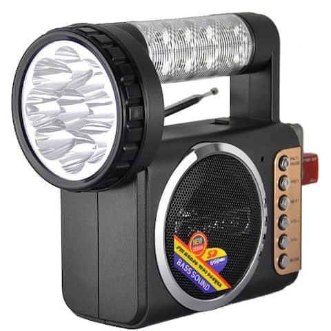 Portable FM Radio With USB And Flashlight