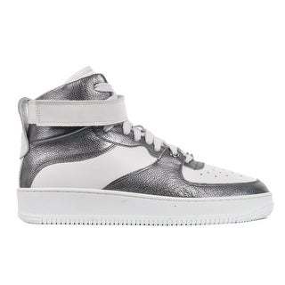Red Valentino White Silver Metallic Glam Glam High Top Sneakers