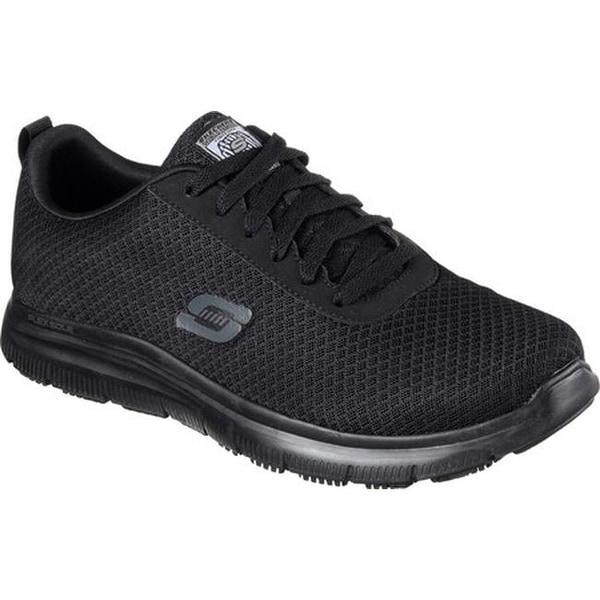 da057657dc3 Skechers Men  x27 s Work Relaxed Fit Flex Advantage Bendon SR Sneaker Black