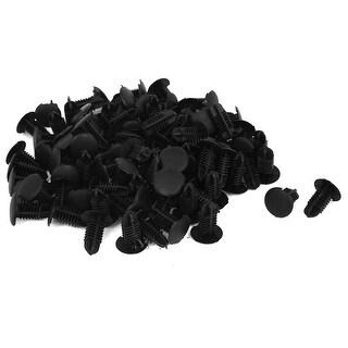 Unique Bargains 100 Pcs Black Plastic Rivet Trim Fastener Guard Clips 6mm x 12mm x 14mm