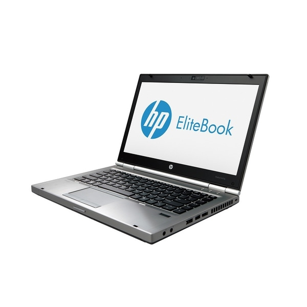 "HP Elitebook 8470P 14.0"" Standard Refurb Laptop - Intel i5 3320M 3rd Gen 2.6 GHz 4GB SODIMM DDR3 SATA 320GB DVD-RW Win 10 Home"