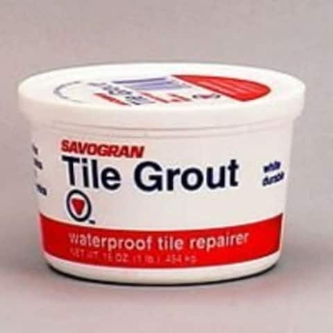 Savogran 12841 Powder Tile Grout, White, 1 Lb