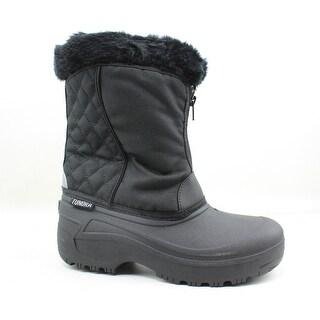 Tundra Womens Portland Black Snow Boots Size 8