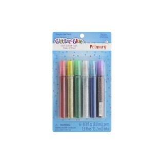 Sulyn Glitter Glue Pen 6pc Primary