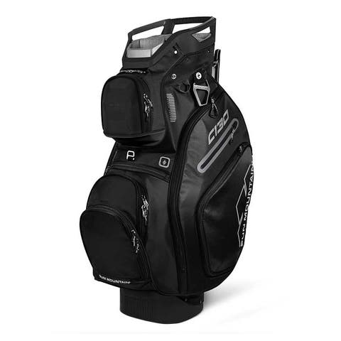 New 2019 Sun Mountain C-130 5-Way Golf Cart Bag (Black) - Black
