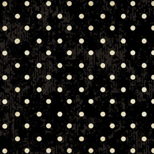 "Classic Collection 43"" Wide 100% Cotton 5yd D/R-Dot - Black"