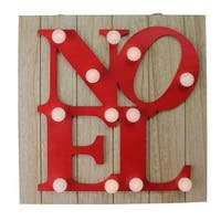 Northlight  10 in. Letter Noel - Battery Operated Wall D cor, Red