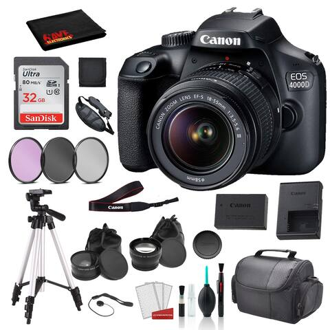 Canon EOS 4000D (Rebel T100) EF-S 18-55mm Lens (Black) Bundle ?SanDisk