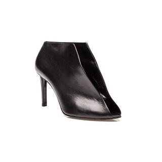 Balenciaga Women's Leather Split Strap Design High Heel Shoes Black - 6 us /36 eu