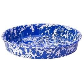"Crow Canyon D66DBM Round Cake Pan, 9"", Dark Blue Marble"