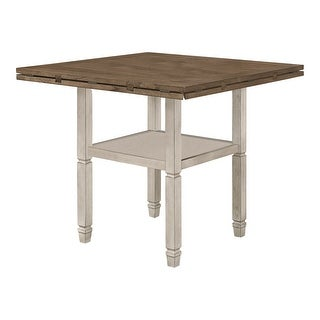 Link to Bentley Nutmeg and Rustic Cream Leaf Extension Counter Height Table Similar Items in Dining Room & Bar Furniture
