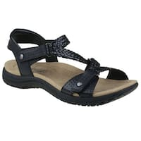 Earth Origins Womens stella Leather Open Toe Casual Strappy Sandals