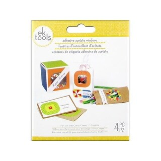 EK Sticker Window Adhesive Acetate Square 4pc