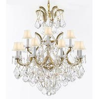 Swarovski Crystal Trimmed Chandelier With Luxe Crystals - Gold