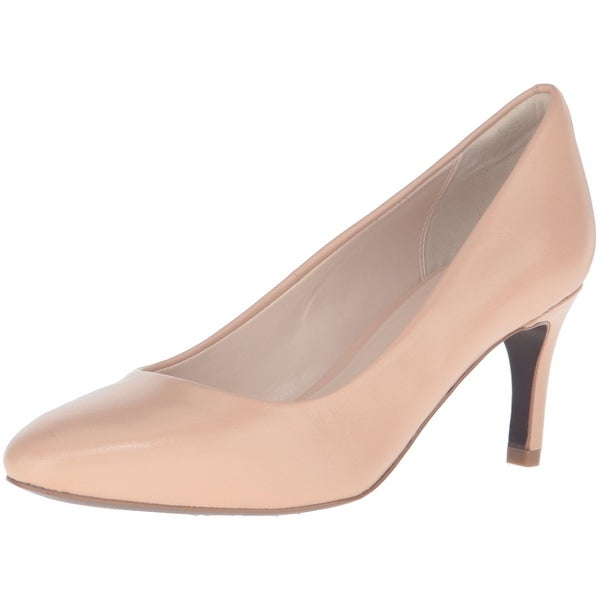 Cole Haan Womens Clara Grand 65mm Leather Pointed Toe Classic, Nude, Size 10.0