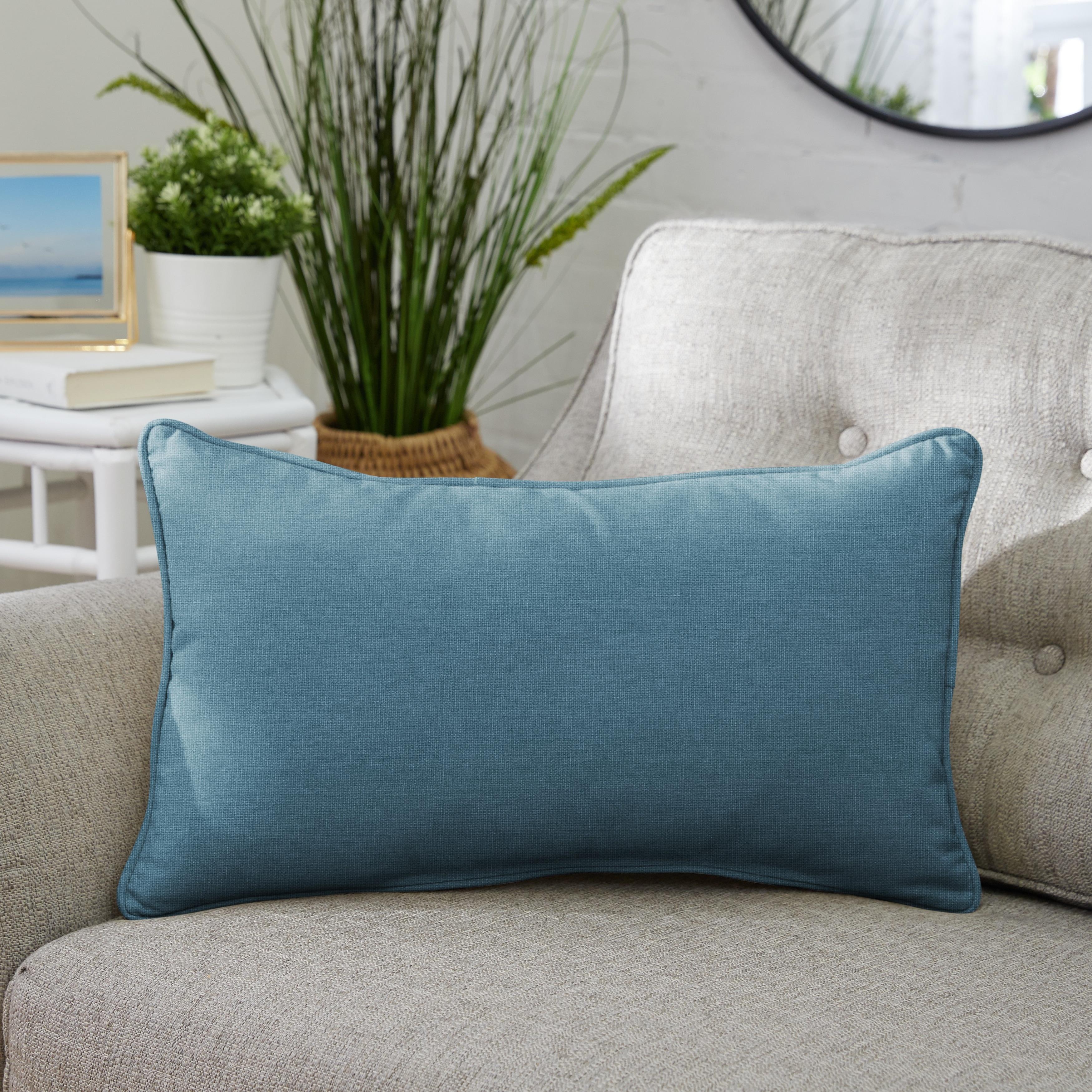 Sunbrella Indoor Outdoor Corded Lumbar Pillow Set Of 2 On Sale Overstock 8933340