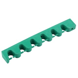 Snooker Table Billiard Rubber Wall Mounted 6 Cue Sticks Rack Holder Pool Green