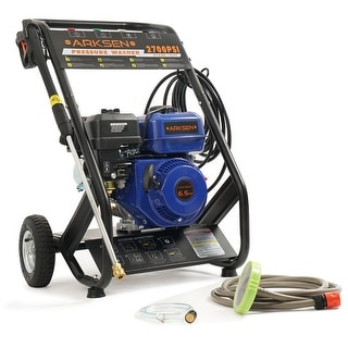 Arksen 2,700 PSI Gas Powered Pressure Washer 2.45 GPM, 6.5HP w/ (5) Nozzle Adapter, Blue