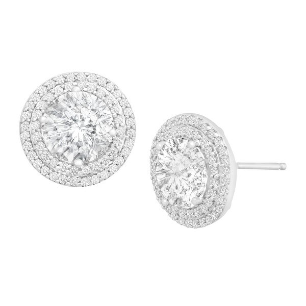 Stud Earrings with Swarovski Zirconia in Sterling Silver